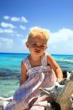 Девушка на вале Стоковые Фото