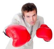 竞争打的生意人的竞争 免版税库存照片