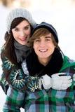 夫妇冬天 库存图片