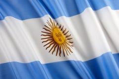 флаг Аргентины Стоковые Изображения