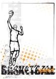 背景篮球桔子 库存照片