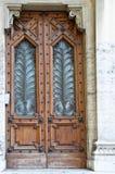 经典装饰的门 免版税库存照片