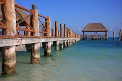 加勒比码头 库存图片