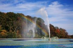喷泉池反射 库存照片