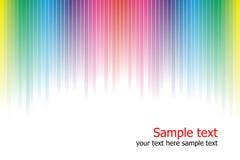 抽象背景上色彩虹 免版税库存照片