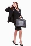 有吸引力的企业白种人二十妇女 免版税库存照片