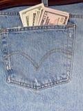 джинсыы наличных дег Стоковая Фотография RF
