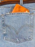 портмоне джинсыов Стоковые Изображения
