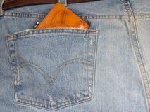 портмоне джинсыов Стоковые Фото