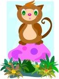 гриб кота Стоковая Фотография