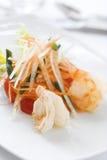 盘美食海鲜 库存照片