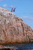 不列塔尼的海角峭壁潜水员 免版税库存照片