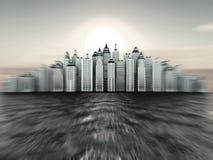 διαστατικό νησί τρία πόλεων  Στοκ φωτογραφία με δικαίωμα ελεύθερης χρήσης