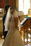 最近结婚的夫妇 免版税图库摄影