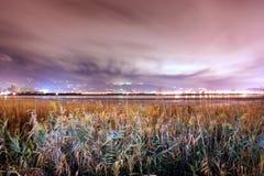 Τα πετώντας σύννεφα στην αυγή Στοκ Φωτογραφίες
