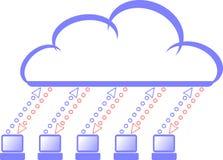 вычислять облака Стоковые Изображения