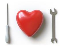 сердце собрания здесь нажимает Стоковые Фотографии RF