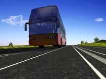 公共汽车游人 库存照片