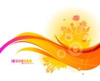 花卉抽象设计 免版税库存图片