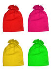 色的帽子孩子羊毛 图库摄影
