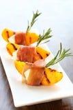 开胃菜烤了桃子 免版税库存照片