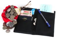 开张钱包 免版税库存照片