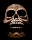 黑暗的恐怖照片头骨 图库摄影