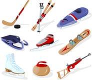 体育运动用工具加工冬天 免版税库存图片