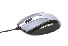 接近的计算机查出白色的鼠标 免版税图库摄影