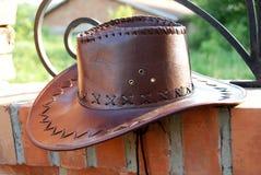 коричневый шлем ковбоя Стоковые Изображения RF