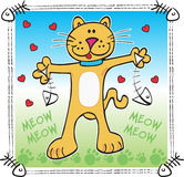 γάτα ευτυχής Στοκ Εικόνα