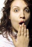 изумленная девушка Стоковая Фотография RF