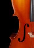 大提琴特写镜头 图库摄影