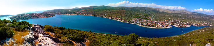 亚得里亚海的克罗地亚海运 图库摄影