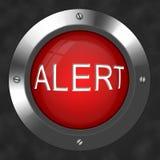 бдительная кнопка Стоковое фото RF