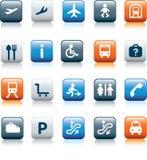 перемещение иконы установленное Стоковая Фотография