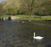 德贝郡地区英国国家公园峰顶 免版税图库摄影