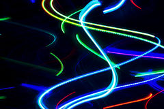 霓虹抽象的光 库存照片