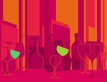 тип партии приглашения коктеила ретро к Стоковые Фотографии RF