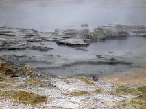 煮沸地热新的池西兰的活动 免版税库存图片