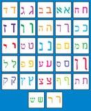 字母表希伯来语 免版税库存图片