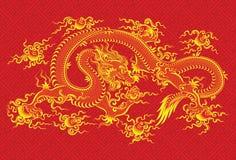 中国龙红色 免版税库存照片