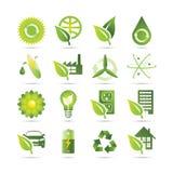зеленые иконы Стоковое Изображение RF
