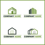πράσινο λογότυπο κτημάτων & Στοκ εικόνα με δικαίωμα ελεύθερης χρήσης