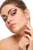 красивейшая женская модель Стоковая Фотография