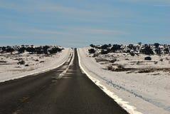 风景沙漠的驱动器 免版税库存照片