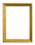 古色古香的框架金子 库存照片