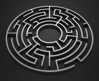 круговой лабиринт Стоковые Изображения RF
