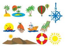 图标旅游业 库存图片