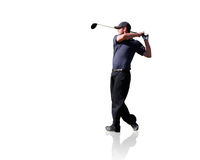 изолированный игрок в гольф Стоковые Изображения RF
